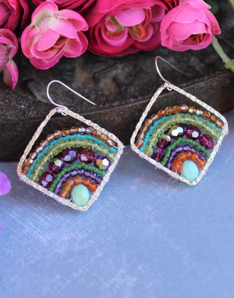 Deluxe Boho Earrings - Rainbow