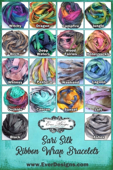 Sari Silk Ribbon Color Chart
