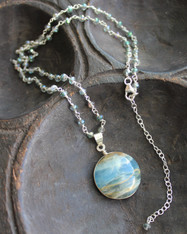 Lost in Your Eyes Blue Onyx Necklace