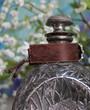 Repurposed Brooch Boho Chic Leather Cuff