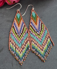 Beaded Fringe Earrings - Coachella