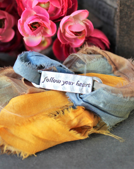 Follow Your Heart Ribbon Wrap Bracelet