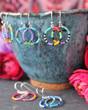 Colorful Beaded Hoop Earrings - Cancun