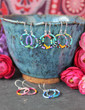 Colorful Beaded Hoop Earrings - Santa Fe