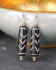 African Bone Earrings