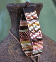 Metallic Mix Hand Loomed Bracelet