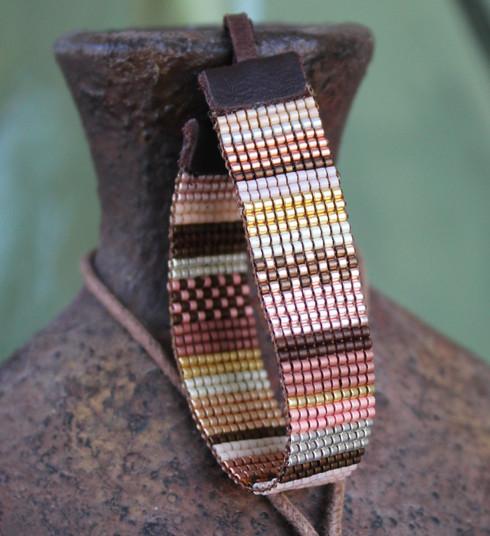 Metallic Mix Hand Loomed Bracelet