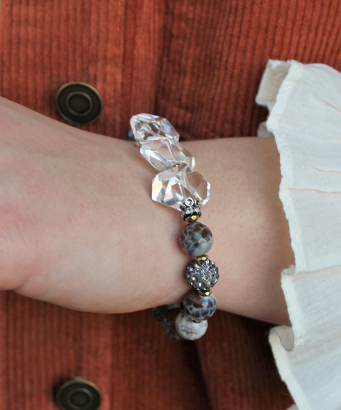 Luxe Stretch Bracelet - Fire