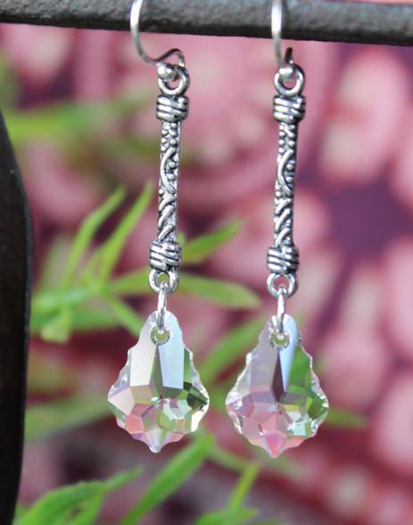 Timeless Beauty Long Baroque Swarovski Crystal Earrings