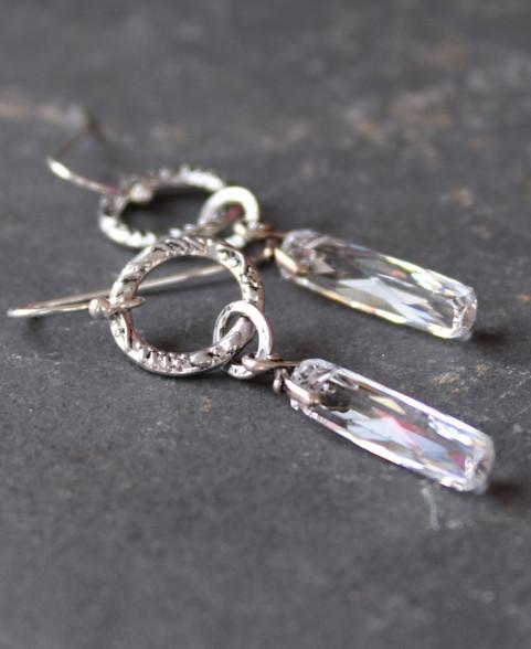 Pilar of Light Crystal Earrings