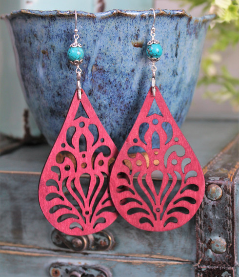 Wooden Boho Earrings - Hippie Soul