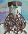 Wooden Boho Earrings - Lotus Teardrop