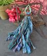 Long Silk Tassel Necklace - Abyss
