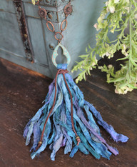 Long Silk Tassel Necklace - Abyss