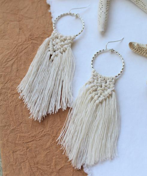 Macrame Earrings - Natural