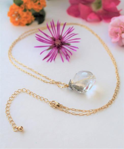 Crystal Quartz Healing Gemstone Necklace