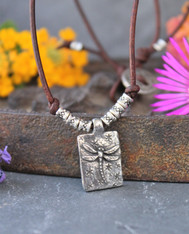 Dragonfly Knotted Leather Bohemian Necklace
