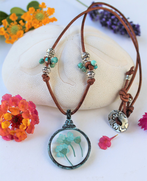 Pressed Flower Bohemian Necklace