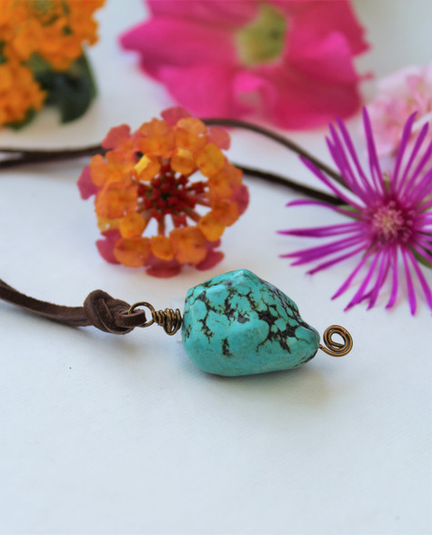 Turquoise Nugget Bohemian Necklace