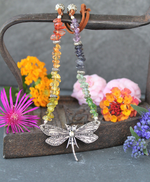 Dragonfly Rainbow Necklace