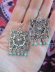 The Wanderer Earrings - Turquoise
