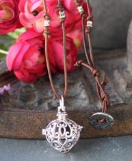 Bohemian Heart Locket Necklace