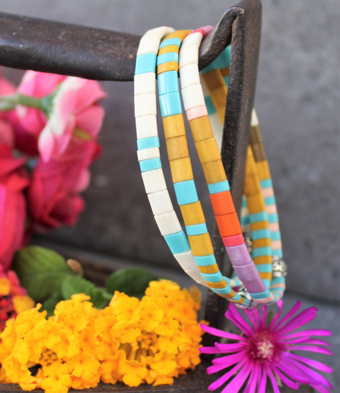 Tila Tile Bracelet Set of Three 3 Neutral Colors