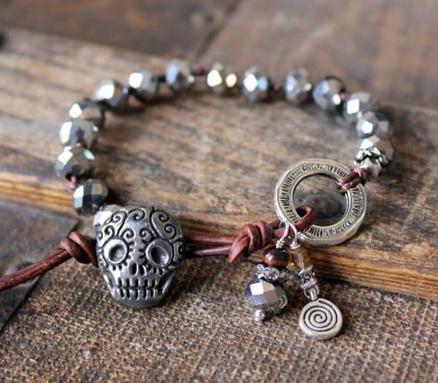 Sugar Skull Bohemian Bracelet