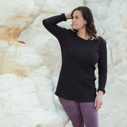 Organic Cotton Wide Rib Tunic