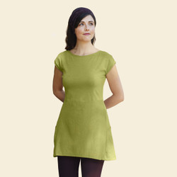 Organic Cotton Sleeveless Tunic - Slub
