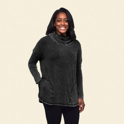 Organic Cotton Pocket Pullover Poncho