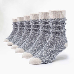 Organic Cotton Ragg Socks - 6 Pak