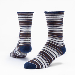 Organic Wool Stripe Snuggle Socks