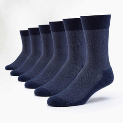 Organic Cotton Cushion Dress Socks - 6 Pak