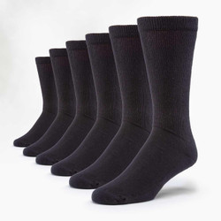 Organic Cotton Diabetic Socks - 6 Pak