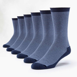 Organic Cotton Cushion Crew Socks - 6 Pak