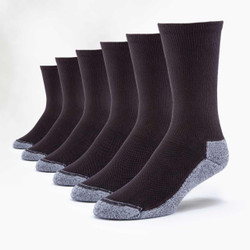 Organic Cotton Sport Socks - Crew - 6 Pak