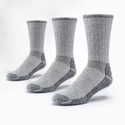Organic Wool Mountain Hiker Socks - 3 Pak