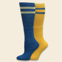 Organic Cotton Game Day Sock - Maize/Blue