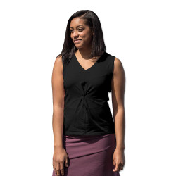 Organic Cotton Sleeveless Twist Top