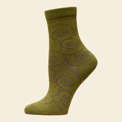 Organic Cotton Trouser Socks - Wavy Scroll