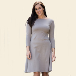 Organic Cotton 3/4 Sleeve Circle Dress
