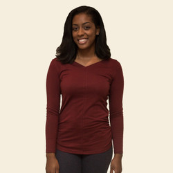 Organic Cotton Ruched 2-Way Top