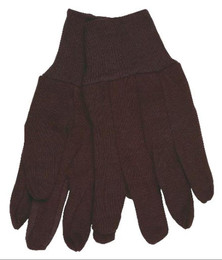 Brown Jersey, Clute Pattern with Knit Wrist, Cotton/Polyester Blend