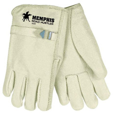 Road Hustler, Premium Grade Grain Leather, Rolled Hem, Pull Strap, Straight Thumb