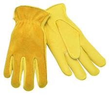 Drivers Glove, Regular Deer Grain Leather Palm, Split Back, Keystone Thumb
