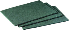"3M General Purpose Scouring Pads, 9"" W x 6"" L, Medium, Green, Synthetic Fiber (20 Per Box, 60 Per Carton"