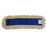 "Pro+Plus Dust Mop, 5"" W x 36"" L, Blue Canvas/White Yarn, Side Loading w/Snap, Cotton/Polyester (6 Per Carton)"