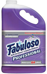 Fabuloso Multi-Purpose Cleaner, 1 Gallon Bottle, Lavender, 4 Bottles Per Case