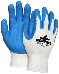 Memphis Flex Tuff®, 10 Gauge Cotton/Polyester Shell, Blue Latex Palm & Fingertips